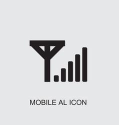Mobile al icon vector