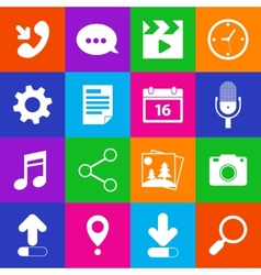 Mobile Applications Icons vector image