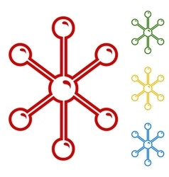 Molecule sign Set of line icons vector image