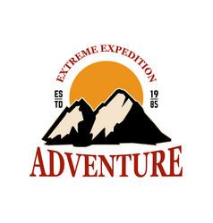 mountain camp emblem template design element for vector image
