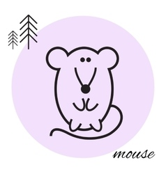 Mouse thin line icon vector