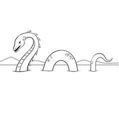 Nessie monster coloring vector