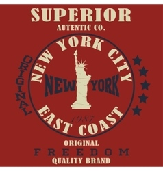 New york typography t-shirt vector