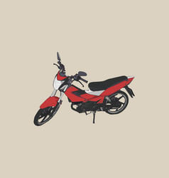 Old and red motorbike sketch vector