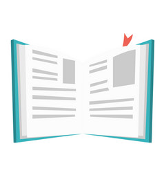 opened book with bookmark vector image