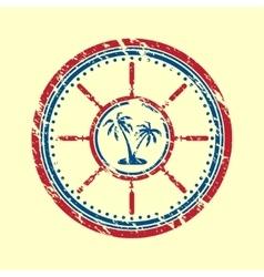 Palms symbol grunge vector image