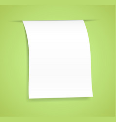 Paper sheet vector