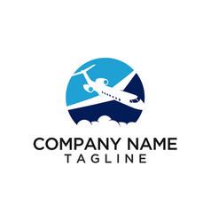 Plane aviation logo template vector