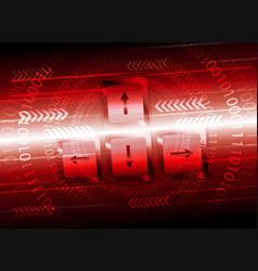 red background with computer buttons vector image