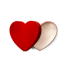 red heart box for valentines day or special vector image