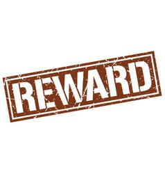 Reward square grunge stamp vector