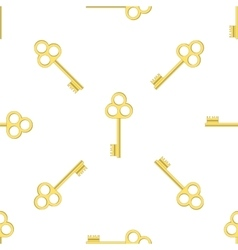 Seamless Gold Key Pattern vector image vector image