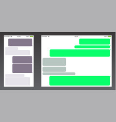 set messenger ui user interface short message vector image