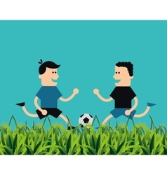 Soccer football related icons image vector