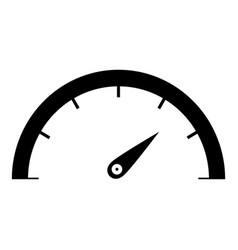 speedometer icon black color icon vector image