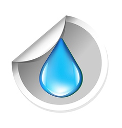 Sticker With Water Drop vector image
