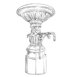 street drinking fountain vector image