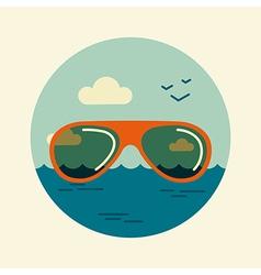 Sunglasses icon Summer Beach Sun Sea vector