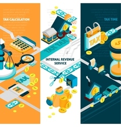 Tax Banners Set vector image