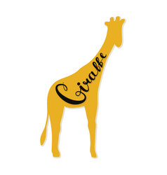 The logo of the giraffe vector