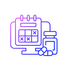 Tracking sick leave time gradient linear icon vector