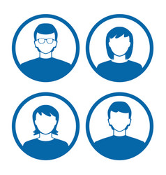 users profile silhouettes vector image