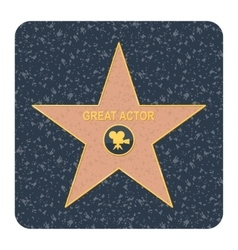walk of fame star vector image vector image