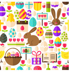 White easter seamless pattern vector