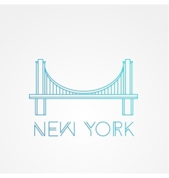 World famous Brooklyn Bridge vector