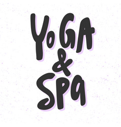 Yoga and spa sticker for social media content vector