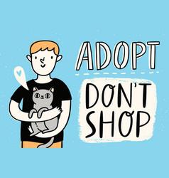 adopt do not shop vector image