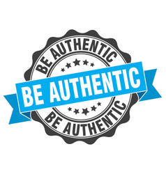 be authentic stamp sign seal vector image