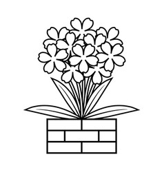 coloring book flower vector image