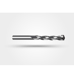 drill bit isolated on a white background vector image