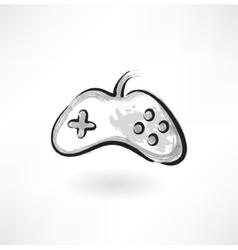 gamepad grunge icon vector image