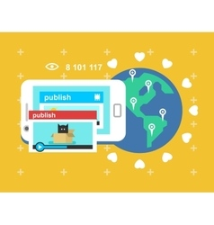 Share video publish vector image