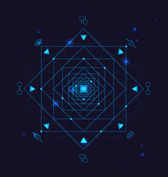 alchemy geometry symbol thin line vector image