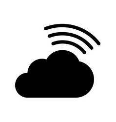 cloud icon on white cloud saving design vector image