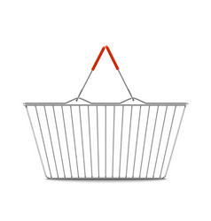 empty shopping basket realistic vector image