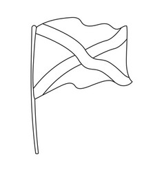 flag of scotland icon in outline style isolated on vector image