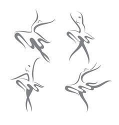 four ballerinas vector image vector image