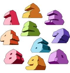 Multicolored alphabet digits vector image vector image