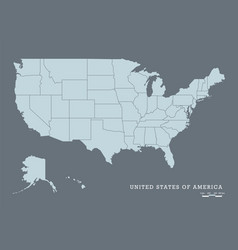 usa map with federal states vector image vector image