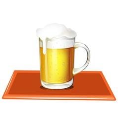 A mug full of cold beer vector image