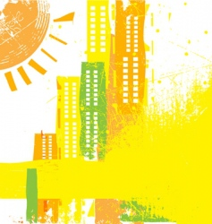 abstract city concept vector image vector image