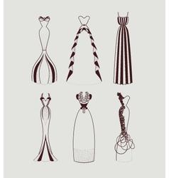 floor length woman dresses vector image vector image