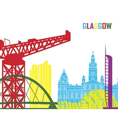 Glasgow skyline pop vector image vector image