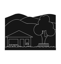 vacation homerealtor single icon in black style vector image vector image