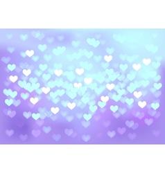 Violet festive lights in heart shape background vector image