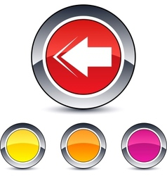 back arrow round button vector image